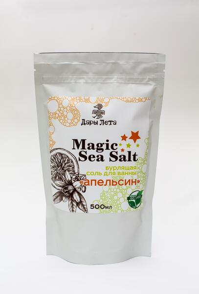 Изображение Бурлящая соль для ванн Magic Sea Salt «Апельсин», 500 мл